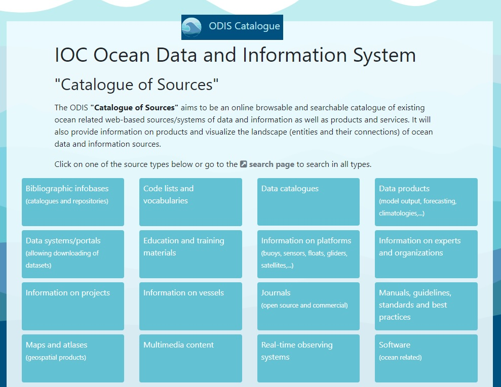 Discover Ocean Data and Information System (ODIS) Catalogue
