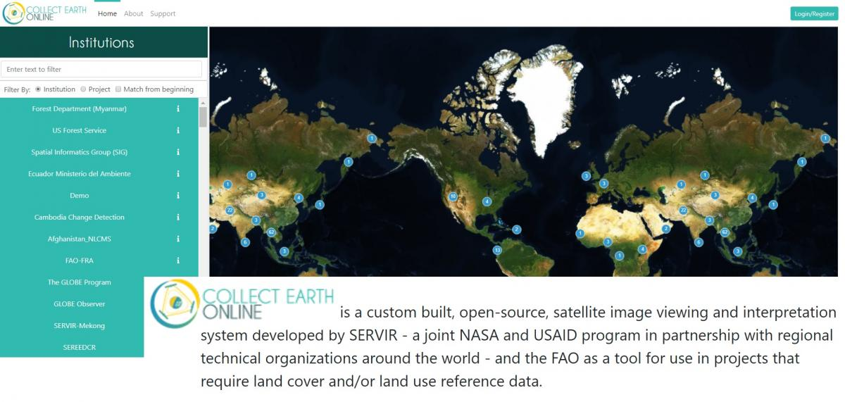 Collect Earth Online (CEO) next generation tool allows anyone to