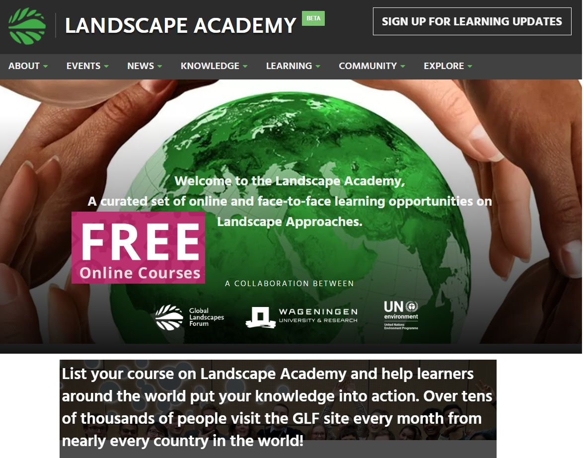Discover FREE online courses from LANDSCAPE ACADEMY